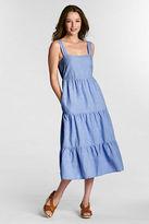 Lands' End Women's Regular Smockback Dress