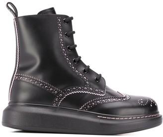 Alexander McQueen Hybrid lace-up brogue boots