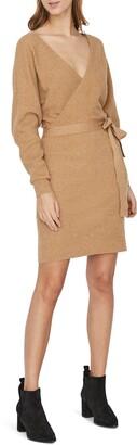 Vero Moda Tie Waist Long Sleeve Sweater Dress