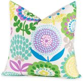 Crayola Pointillist Pansy 20-Inch Square Throw Pillow