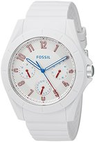 Fossil Men's Quartz Rubber and Silicone Automatic Watch, Color:White (Model: FS5223)