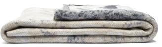 Saved Ny - Cloud-jacquard Cashmere Blanket - Beige Multi