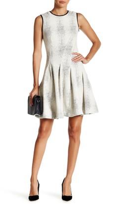 Julia Jordan Textured Knit Fit & Flare Dress