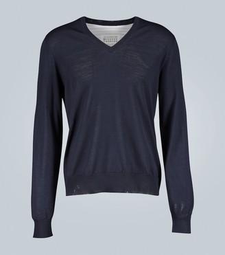 Maison Margiela Spliced sweater shirt