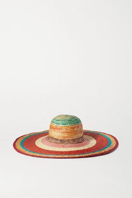 Missoni Striped Straw Sunhat - Red