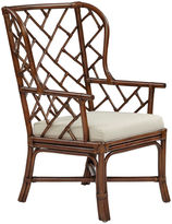 One Kings Lane Francis Wingback Chair, Cocoa