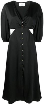 BA&SH Rose cutout shirt dress