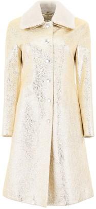 Bottega Veneta Gold Leather Coat