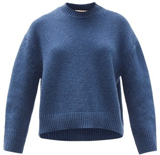 Brock Collection Drop-shoulder Cashmere Sweater - Womens - Blue