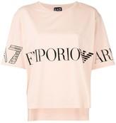 Emporio Armani Ea7 logo cropped T-shirt
