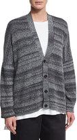 eskandar Cotton-Blend Cardigan Sweater, Black