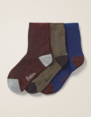 Boden Three Pack Sparkle Socks