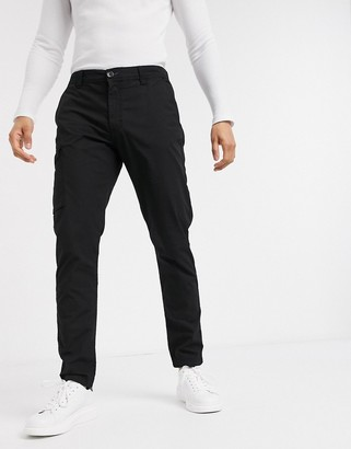 Paul Smith ripstop pocket detail military trousers in black
