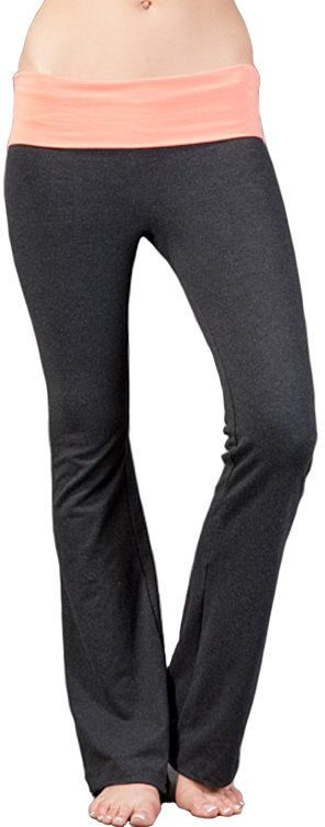 So Low Solow Jersey Colorblock Foldover Pants
