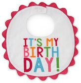 "Mud Pie It's My Birthday"" Piqué Bib in Multicolor"