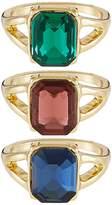 Miss Selfridge 3 PACK Ring multicoloured