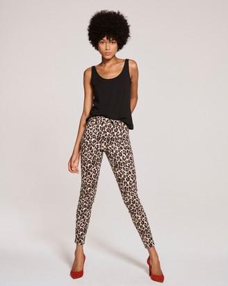 Vince Camuto Leopard-print 5-pocket Skinny Jeans