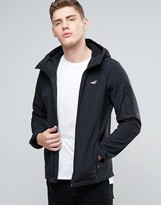 Hollister Hooded Softshell Jacket Seagull Logo In Anthracite