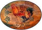 "Certified International Rustic Rooster 16"" x 12"" Oval Serving Platter"