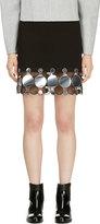 Christopher Kane Black & Silver Continuous Molecule Trim Skirt