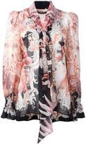 Roberto Cavalli roses print blouse - women - Silk - 46