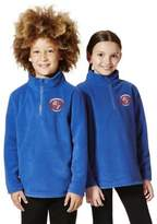 F&F Unisex Embroidered Half Zip School Fleece