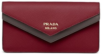 Prada Two-Tone Envelope Mini Bag