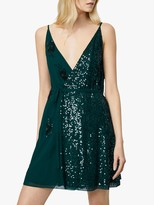 French Connection Aurora Embellished V-Neck Mini Dress
