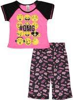 "Rene Rofe Little Girls' ""Emoticon Blast"" 2-Piece Pajamas"