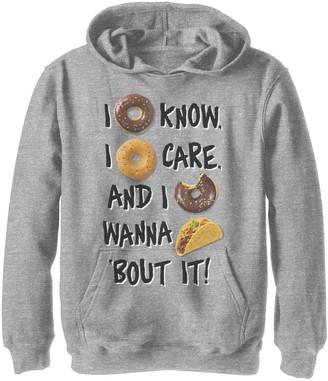Fifth Sun Boys 8-20 I Doughnut Know I Doughnut Care Graphic Hoodie