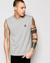 Religion Sleeveless Sweatshirt with Zip Detail