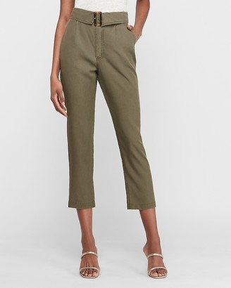 Express Super High Waisted Belted Fold-Over Pant