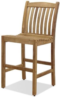 International Home Miami Eden Home Outdoor 2-Piece Teak Barstool Set Patio Furniture Wooden Barstool