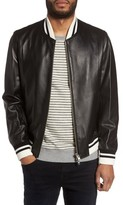 Slate & Stone Men's Leather Bomber Jacket
