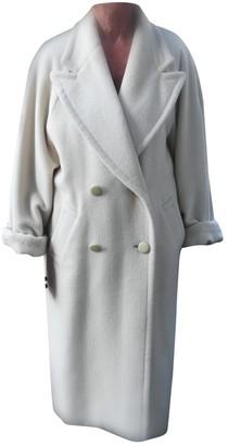 Basile White Wool Coat for Women Vintage