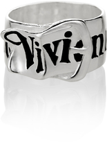 Vivienne Westwood Silver Belt Ring Size XS