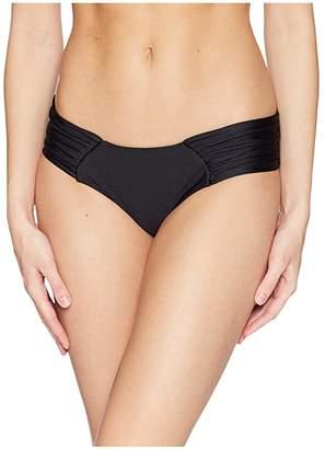 Luli Fama Cosita Buena Scrunch Ruched Back Bikini Bottom (Black) Women's Swimwear