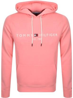 Tommy Hilfiger Logo Hoodie Pink