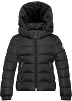 Moncler Oiron Hooded Fitted Puffer Jacket, Black, Size 8-14