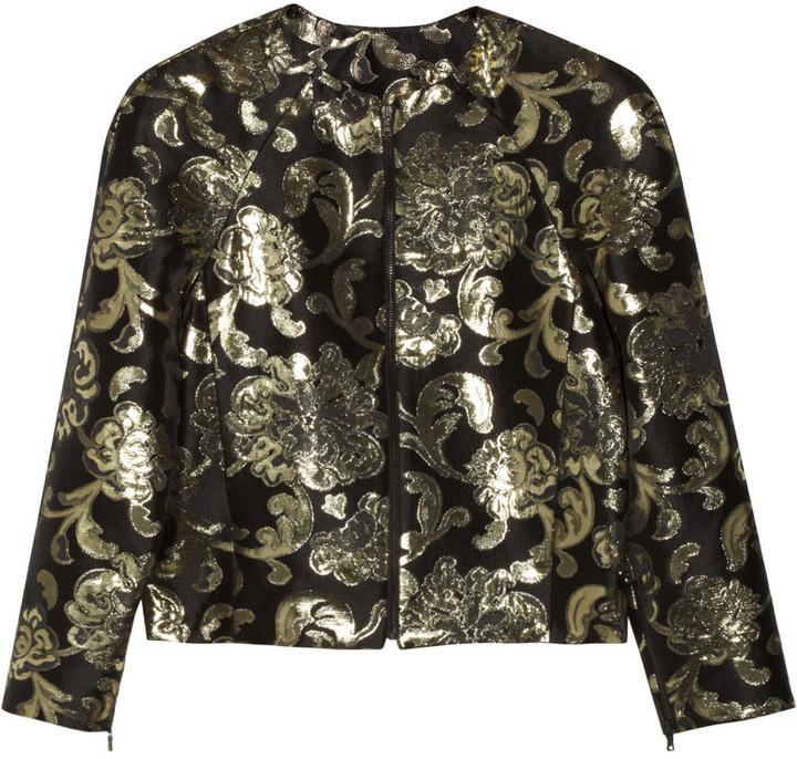 Alice + Olivia Royal damask-jacquard blazer
