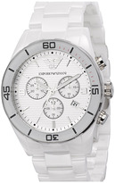 Emporio Armani Large Ceramic Chronograph Watch