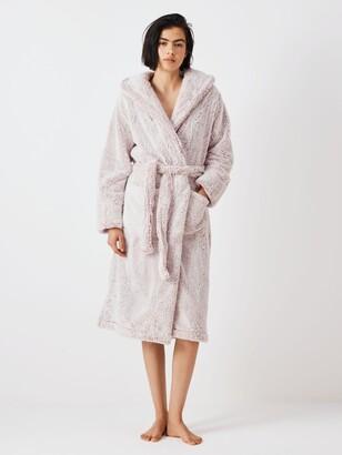 John Lewis & Partners Hi Pile Fleece Robe