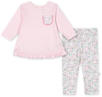 Just Born Baby Girl Lil' Llama Organic 2-Piece Top & Pant Set
