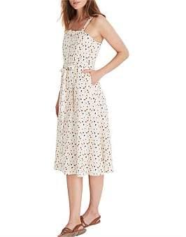 Madewell Square Neck Midi Dress