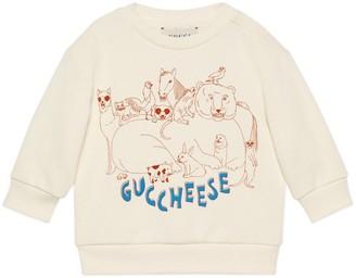 Gucci Baby 'Guccheese' animal print sweatshirt