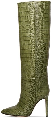 Paris Texas 110MM CROC EMBOSSED LEATHER TALL BOOTS