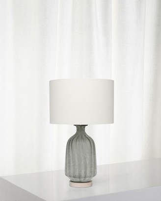Frosted Glass Table Lamp Grey