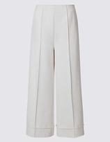 Limited Edition Pleated Wide Leg Cropped Trousers