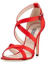 Sarah Jessica Parker Strut Strappy Satin Sandal, Red