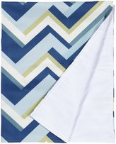 New Arrivals Inc. New Arrivals Clubhouse Crib Blanket- Dark Blue & White